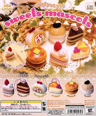 BANDAI Gashapon Fujiya cake 2 kawaii All 7set Gashapon mascot toys Complete set