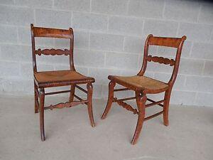 ... Antique Sheraton Pair Rush Bottom Chairs