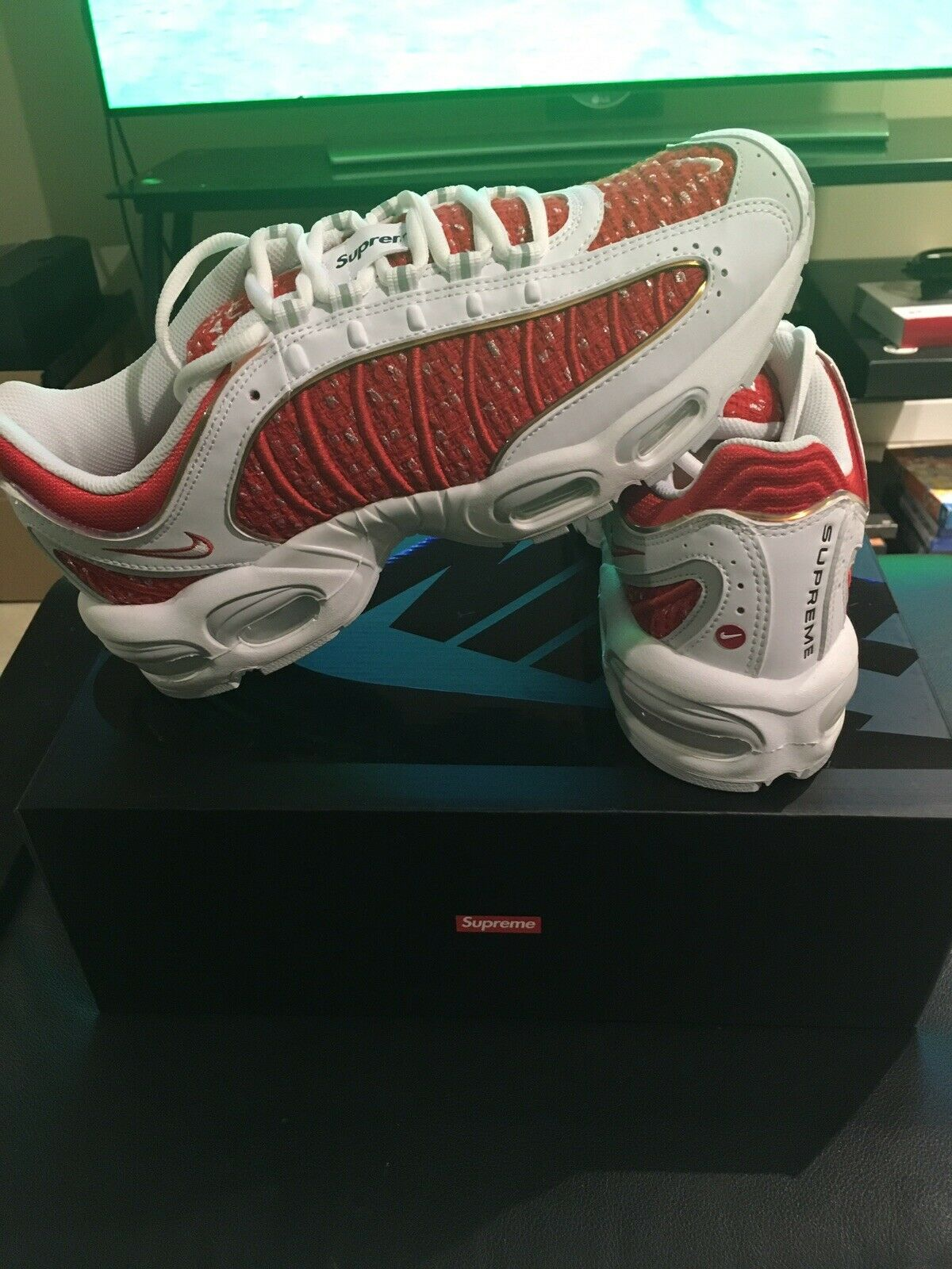Brand New Deadstock Nike X Supreme Air Max IV Tailwind 2019 Limited Sz 10.5