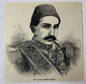 1885-Rivista-Incisione-Sultan-Abdul-Hamid-Cascante