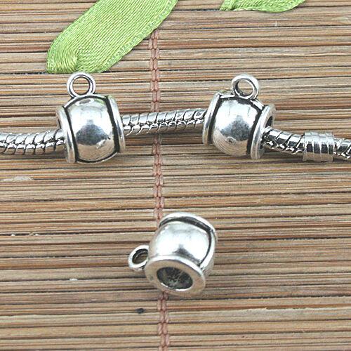 12pcs tibetan silver color plain style bail connector charms EF0976