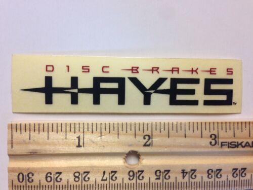 HAYES Disc Brake Bike Black ON CLEAR Frame Mountain Road STICKER DECAL