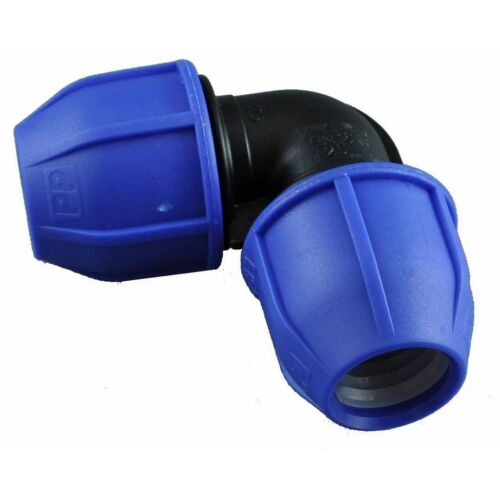 90mmPE 90mm PE BLUE LINE METRIC POLY PIPE ELBOW PUSH FIT NM599 Large Bore