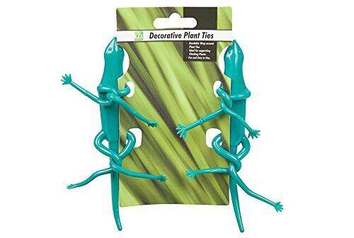 Pack Zwei Dekorativ Biegbar Biegsame Pflanzenbinder Frosch Stab oder Gecko Neu