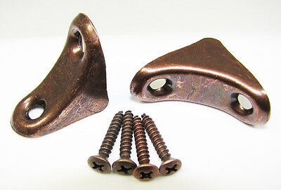 2pc Cigar Box Guitar Parts Zinc-Plated CBG Neck Braces with screws