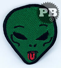#2066 Alien patch punk patch green  tongue patch, embroidery patch, funny