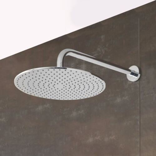 "9/"" BATHROOM CHROME MODERN ROUND OVERHEAD FIX RAINFALL POWERFUL SHOWER HEAD"