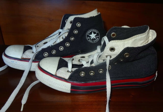 8735a38c514fb0 CONVERSE Black Corduroy Double Tongue High Top Chuck Taylor All Stars -  Size 5