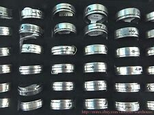 US SELLER -lot of 36 men's ring stainless steel jewelry lot wholesale spinners