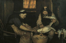 Old couple plucking gulls. Lars Gaihede and old Lene Ancher Rupfen B A3 00532