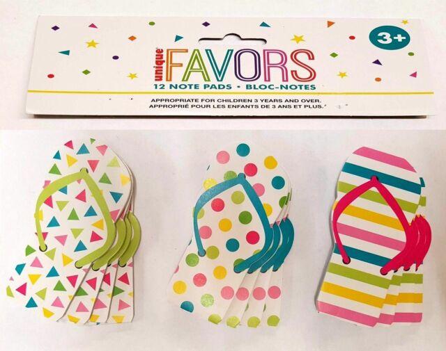 dd07704512cad 12 Flip Flop Note Pads Children Kids Notepad School Party Bag Fillers Gift