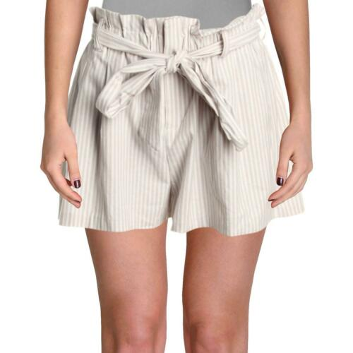 Aqua Womens Plaid Ruffled Hem Casual Shorts BHFO 5201