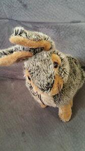 Dan-dee-brown-gray-rabbit-bunny-plush-stuffed-animal