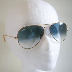 93ec7a8f68e83 Ray-Ban Aviator 3025 001 3F Sunglasses Large Gold Blue Gradient ...