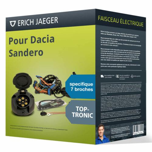 Faisceau spécifique au véhicule 7 broches pour DACIA Sandero 13 Jaeger TOP