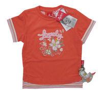 %sigikid% Shirt T-shirt Kurzarm Mädchen Koralle Baumwolle Gr.74, 86 Neu