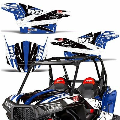 Flames Blue Wholesale Decals ATV Graphics kit Sticker Decal Compatible with Honda TRX 450R 2004-2016