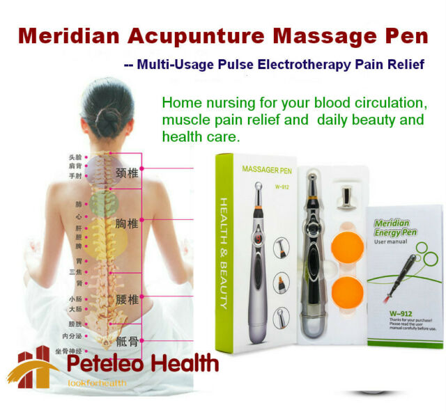 Meridian Acupuncture Massage Pen Therapy Relief Stiff Neck ...