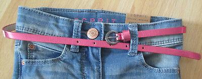 Dynamisch Esprit Süßer Gürtel * Metallic-pink * Größe 61 ( Neu )