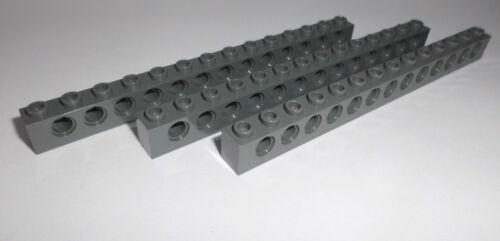 3 Lochsteine 1x14x1 32018 Lego in dunkelgrau aus 8108 7662 8098 75025 9515