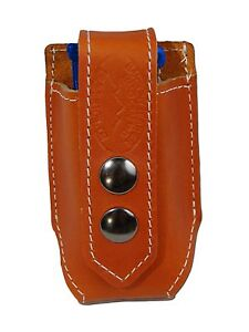 NEW Barsony Saddle Tan Leather Double Magazine Pouch for GLOCK Compact 9mm 40 45