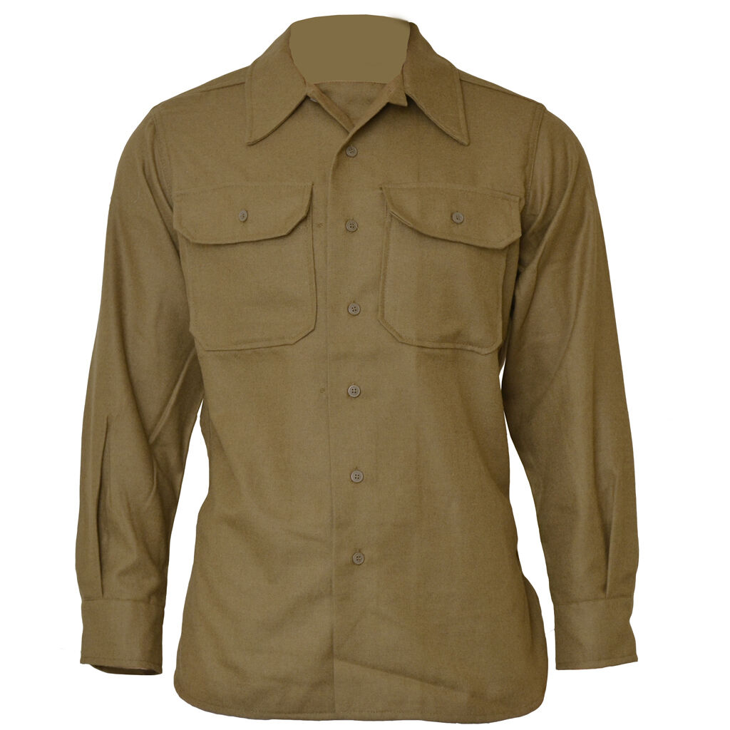 American M37 Wool Shirt - WW2 Repro US Army Olive Drab Solider New