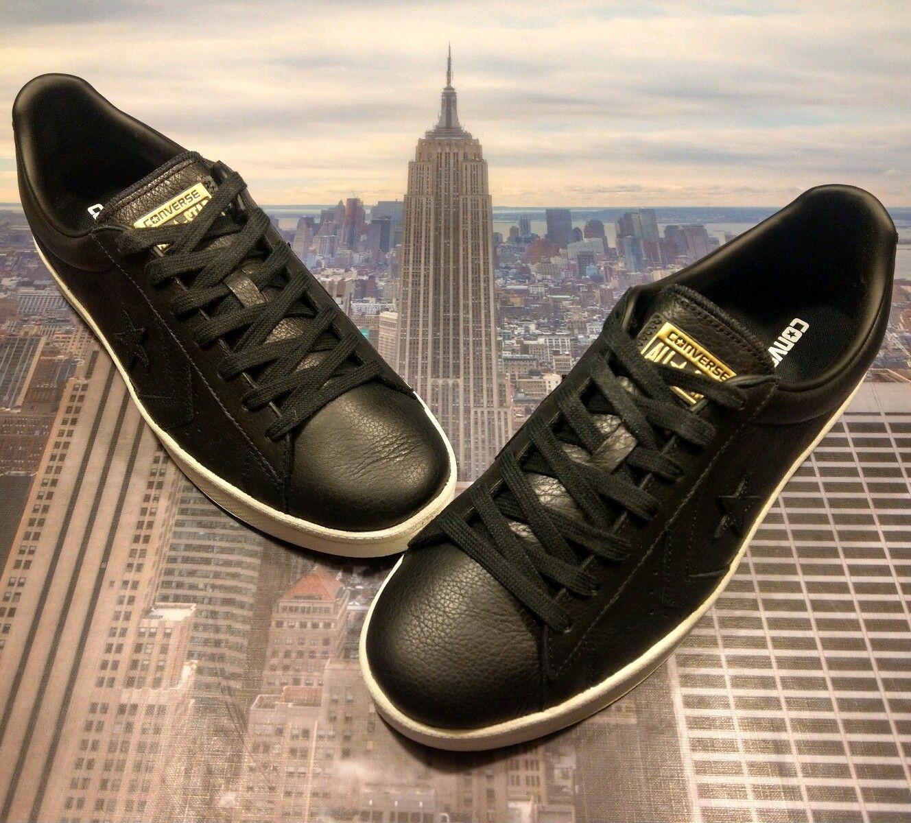 Converse Pro Leather 76 Ox Low Top Black Black-Egret Mens Size 11 157729c New