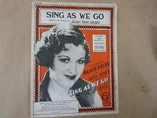 songsheet SING AS WE GO, Gracie Fields 1934
