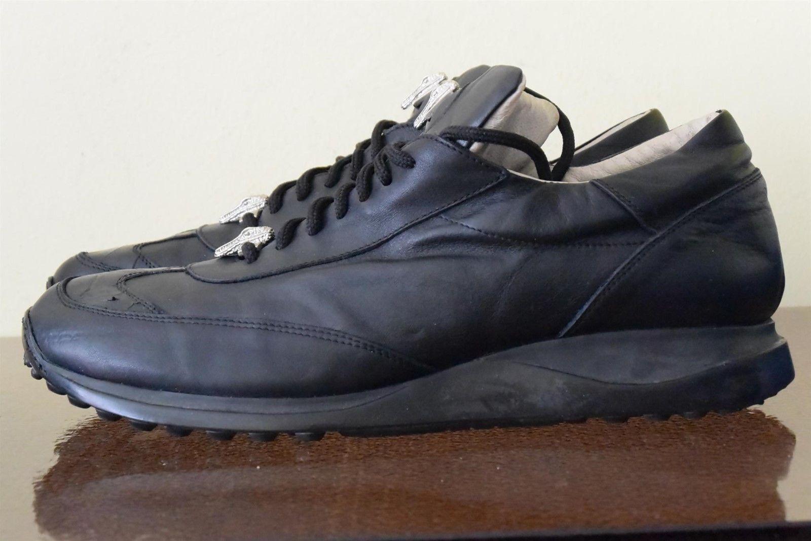 a1a70c13ec7 Mauri (45) 11 Sz Sneakers Italian Leather Crocodile Black ...