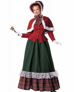 Christmas Caroling Costume.Details About Yuletide Lady Caroler Costume Charles Dickens Victorian Christmas Carol S M L Xl