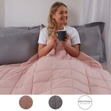 Brentfords Weighted Blanket Sensory Sleep Therapy Anxiety Kids/Adults Blush Grey