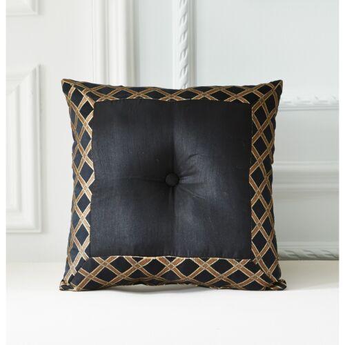 ** Deluxe Black Gold Jacquard Floral Comforter shams Cal King Queen Bedding Set*
