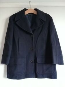 French wollen donkerblauwe maat Connection 14 Womens jas cashmere SqrS8gW