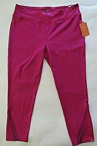 TEK-GEAR-Capri-Mid-Rise-Woman-039-s-1X-Workout-Stretch-Activewear-Bottoms-New-Tags