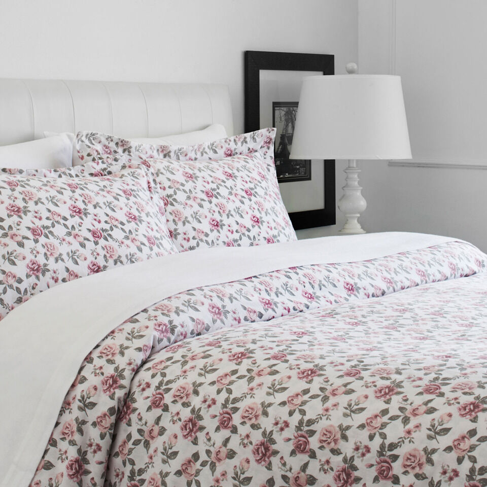 NWT Grand Patrician 3-Piece Full Queen Luxury Duvet Cover Set Classic pink Pink