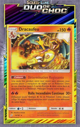 Dracaufeu SL09:Duo De Choc Carte Pokemon Neuve Française 14//181