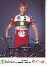 CYCLISME carte cycliste JURGEN VAN DE WALLE  équipe CREDIT AGRICOLE signée