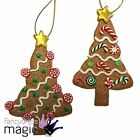 Gisela Graham Traditional Gingerbread Christmas Glitter Tree Hanging Decoration