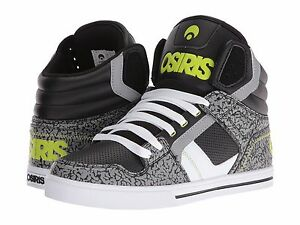 ea8c34c79ea62 Image is loading MENS-OSIRIS-CLONE-SKATEBOARDING-SHOES-NIB-BLACK-LIME-