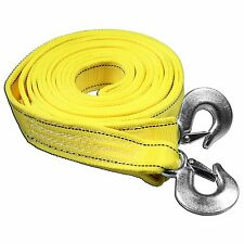 5 Tons Car Tow Cable Towing Strap Rope with Hooks Emergency Heavy Duty 20 FT