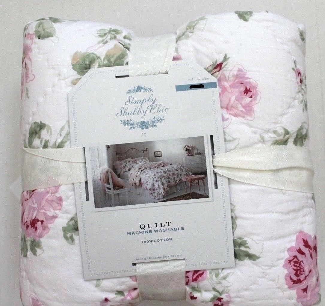 Simply Shabby TWIN Chic  Garden Rose Ruffle QUILT TWIN Shabby QUILT AND SHAME 5d007a