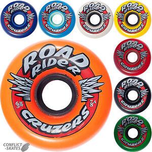 ROAD-RIDER-034-Cruzers-034-Skateboard-Wheels-65mm-78a-Transport-Soft-Fast-Cruiser-SALE