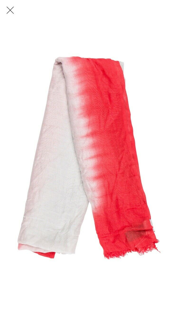 Armani Collezioni Ombre Woven Scarf With Tags Light Grey And Pink Color