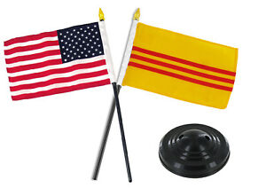 West Indies  6 x 4 Desk Table Flag with Black Plastic Flat Base