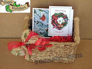 image is loading christmas basket handles rectangular holiday decorations ornaments card