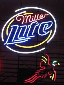 "New Miller Lite Carolina Panthers Beer Bar Pub Neon Light Sign 24/""x20/"""