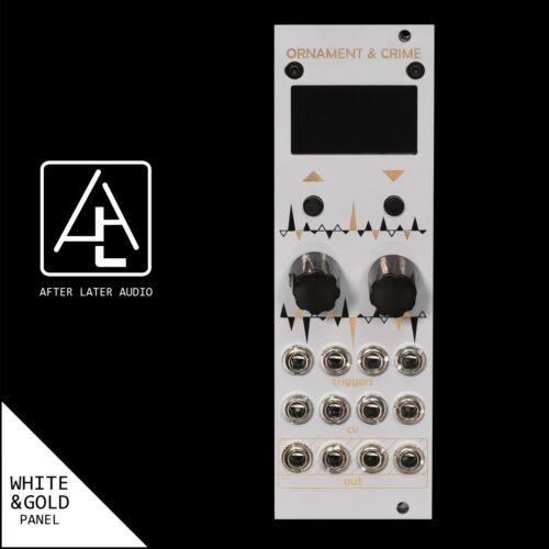 uO/_C Eurorack Module Micro Ornament and Crime Custom White /& Gold Panel