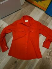 Wrangler Womens 34 Vintage Red Pearl Snap Shirt