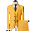 miniature 7 - Mens Suits Sets 3 Pcs Slim Fit Coats Tuxedos Groom Groomsman Formal Work Casual