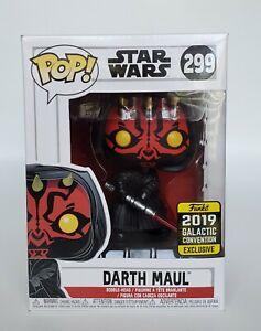 Star Wars 2019 Galactic Convention Exclusive Darth Maul #299 Funko Pop